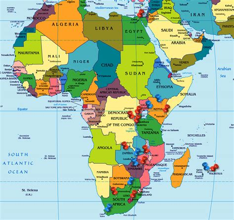 world map africa