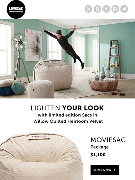 lovesac cyber monday lovesac refresh try a sac in soft willow quilted