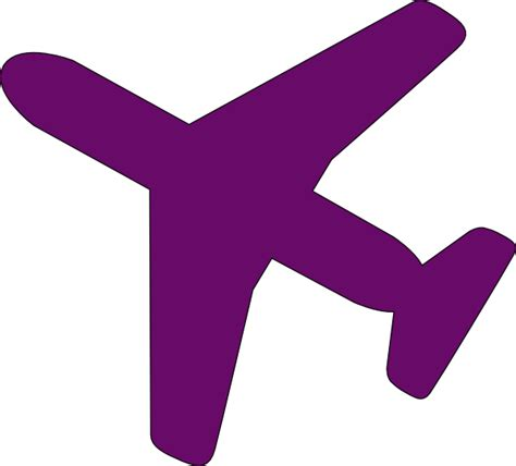airplane clipart purple airplane clip at clker vector clip