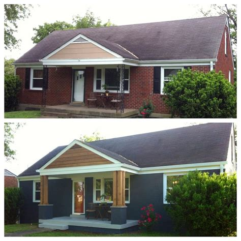 before and after shots of front porch remodel houses and spaces pinterest front porch