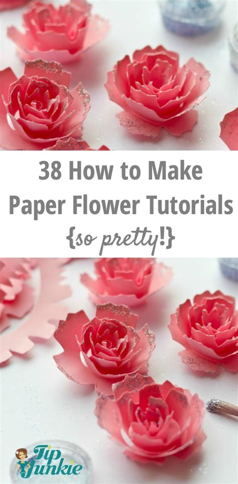How Do You Make Paper Flowers - 38 how to make paper flower tutorials so pretty tip