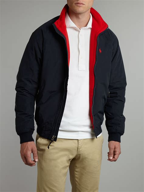 Jaket Bomber Polos Maroon Bomber Jaket polo ralph portage bomber jacket in blue for lyst