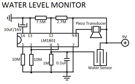 water level indicator project with circuit diagram water level sensor circuit