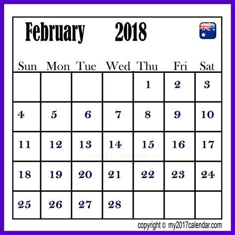 printable calendar 2018 australia february 2018 calendar australia printable monthly calendars
