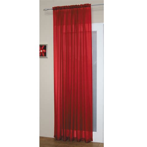 red panel curtains red slot top voile curtain panel tonys textiles