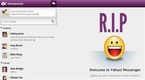 old yahoo layout 2016 rip old yahoo messenger finally shutting down after 18 years