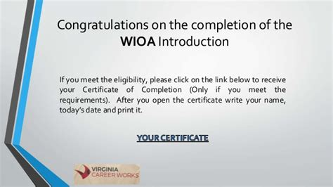 Wioa Eligibility Documentation