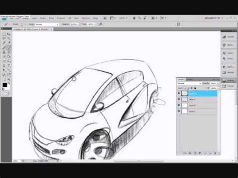tutorial design car car design tutorial photoshop sketch and render youtube