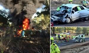 car crash south wales two die in car crash with a livestock truck near dubbo new south wales daily mail