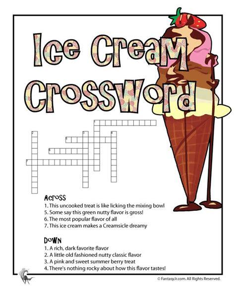 printable ice cream word games ice cream printable crossword puzzle woo jr kids
