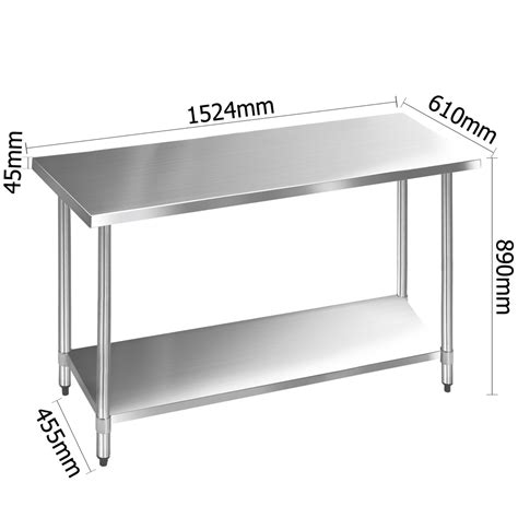 stainless steel kitchen bench 304 stainless steel kitchen work bench table 1524mm