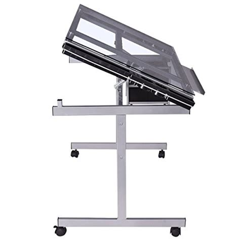 rolling drafting table tangkula adjustable drawing desk rolling drafting table