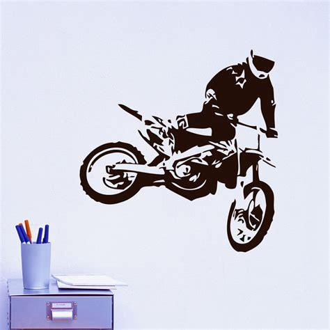motorcycle home decor motocross wall decals jumps motorcycle home decor diy