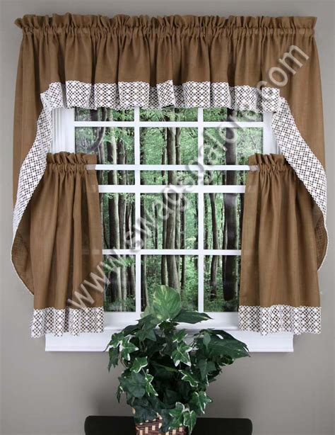 Swag Curtains For Kitchen Salem Kitchen Curtains Burgundy Lorraine Jabot Swag Kitchen Curtains