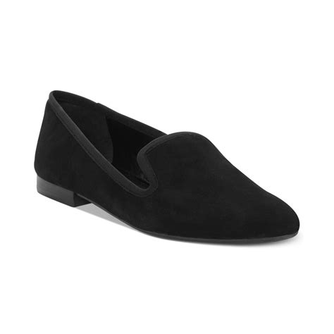 nine west lavalu flats in black black suede lyst