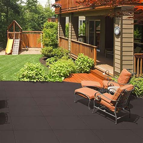 outdoor patio tiles patio rubber floor tile sterling patio flooring 2 inch black