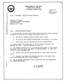 naval format letter template standard naval letter format exle letter format writing