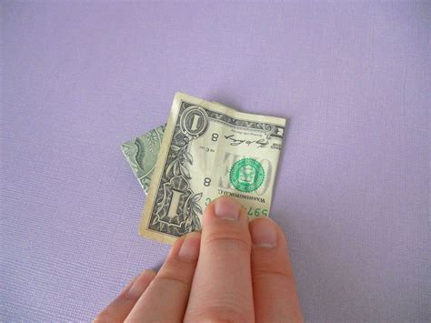 Origami Money Bunny - how to make an origami bunny out of money