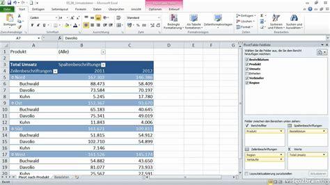 pivot tabellen excel 2010 pivot tabellen grundlagen avaxhome