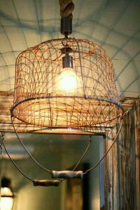 wire basket light covers  rustic basket lighting