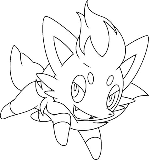 pokemon coloring pages of zorua sta disegno di zorua da colorare