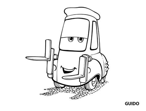 cars guido coloring pages disney cars black and white clipart clipart suggest