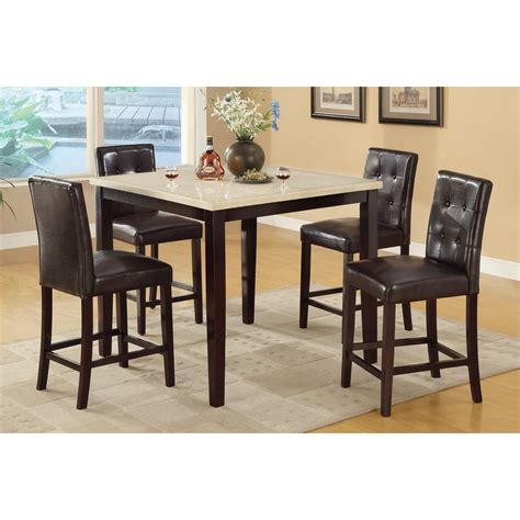 faux marble table l 5 pc faux marble top counter height dining table and chairs