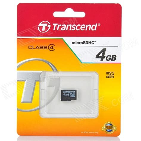 Memory Card Transcend 4gb transcend 4gb class 4 micro sd tf card w card reader free shipping dealextreme