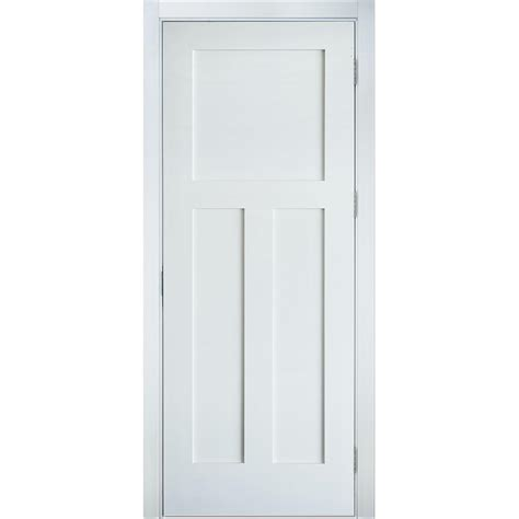 Lpd Doors Shaker Single Panel Interior Door Reviews Krosswood Doors 36 In X 80 In Craftsman Shaker 3 Panel Primed Solid Mdf Left Single