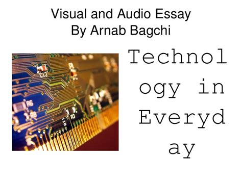 Audio Visual Education Essay by Audio Visual Essay
