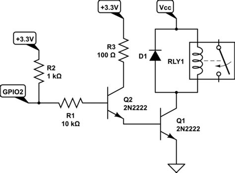 pull resistor in transistor base relay pull up on npn transistor during microcontroller power up electrical engineering