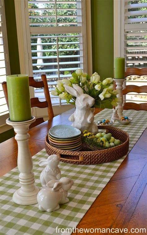 easter green table decoration home decorating trends