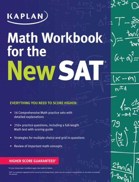 sat math tests prep course books kaplan math workbook for the new sat by kaplan test prep
