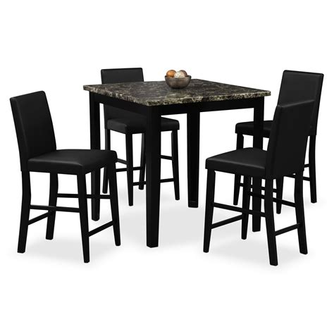 counter height dining room furniture shadow ii 5 pc counter height dinette value city furniture