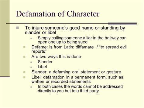 defamation of character letter template defamation of character pcchs therapy