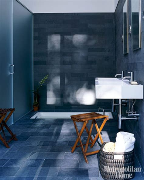 Dark Blue Bathroom Ideas by Dark Bathrooms Interior Design New York