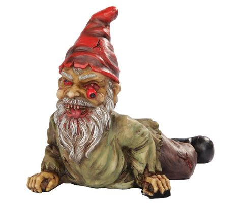 undead garden decor zombie lawn gnome garden gnome dwarf one eyed crawling undead zombie