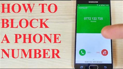 Samsung Phone Number Samsung Galaxy A3 A5 A7 2016 How To Block A Phone Number Call Contact