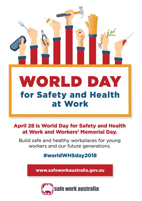 for day 2018 world day for safety and health at work and workers