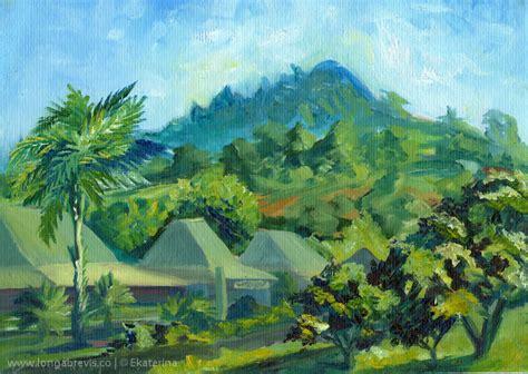 Landscape Paintings New Zealand New Zealand Landscape Painting Holiday Town Coromandel Jpg