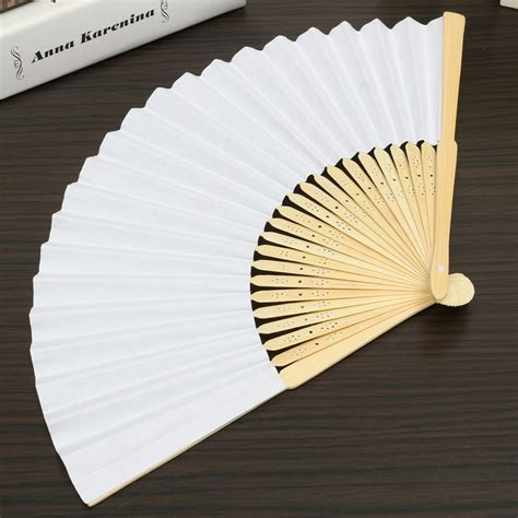 How To Fold A Paper Fan - simple blank diy paper folding fan wedding