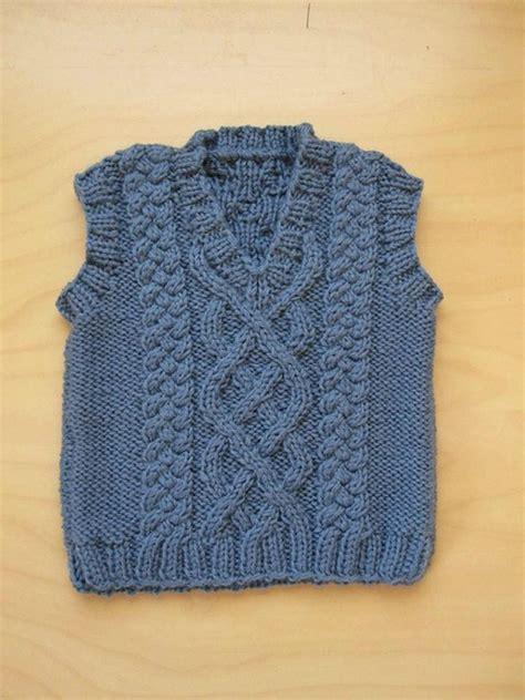 Aran Vest Free Knitting Patterns