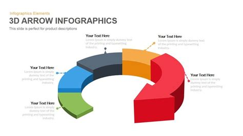 powerpoint circular arrow template 3d arrow infographics powerpoint keynote template