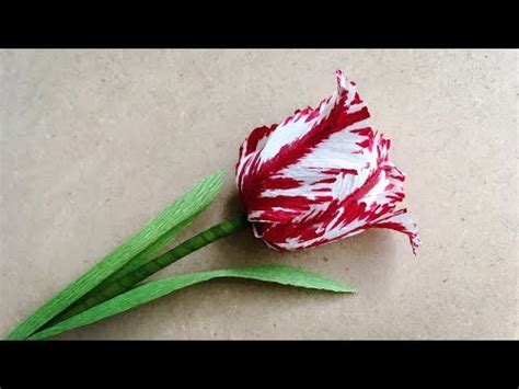 paper flower tutorial tulips abc tv how to make parrot tulips paper flower from crepe