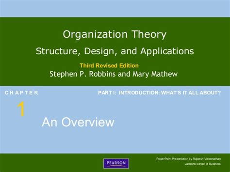 Organization Design Mba by Chapter 1
