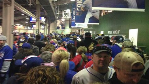 long bathroom line total frat move fans at wrigley piss in beer cups