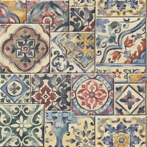 Printinglarge Drawing Tiles | a street prints marrakesh tiles wallpaper 2701 22310