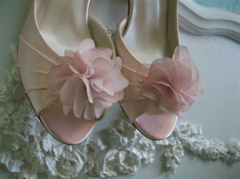 blush flower shoes dyed wedding shoe handmade flower shoes available in