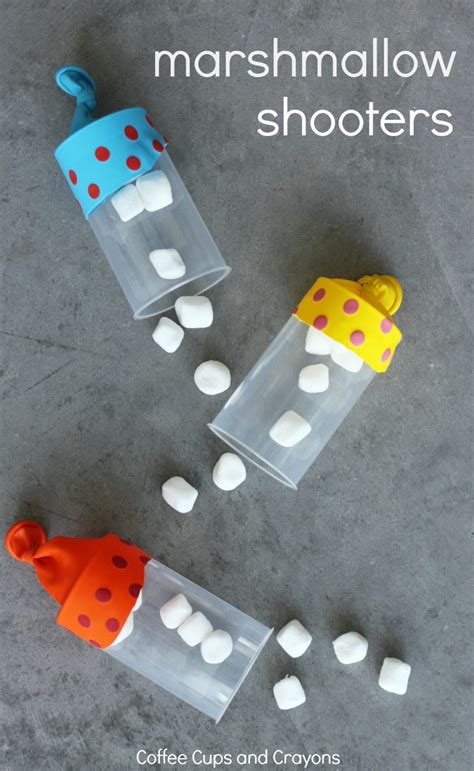 craft for kid marshmallow shooters diy craft coffee cups and crayons