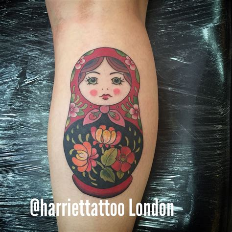 pinup doll tattoos russian doll matryoshka babushka tattoos
